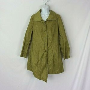 Stella Carakasi Off Set Trench Green Big Snaps Med